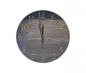 Black Slate Wall Clock - {cf_product_letter_height}